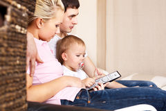 Familys tv Stock Image