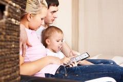 familys tv Obraz Stock