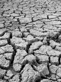 Famine. Water starving land from the famine struck parts of India Stock Image