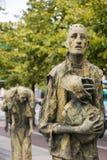The Famine Memorial in Dublin. The famine statues of the famine memorial in Dublin Ireland Stock Photo