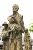 Famine memorial statues. Irish famine statues at a public street in dublin Royalty Free Stock Images