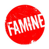 Famine rubber stamp Royalty Free Stock Images
