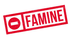 Famine rubber stamp Stock Image