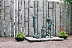 Famine sculpture, Dublin, Ireland Stock Images
