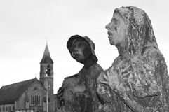 Famine statues in Dublin, Ireland Stock Photo