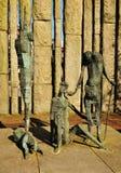 Famine statues in Dublin, Ireland. Monument memorializing The Great Famine of Ireland in Dublin Stock Photos