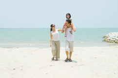 Família asiática Foto de Stock Royalty Free