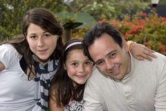 Família bonita que aprecia junto Imagem de Stock Royalty Free