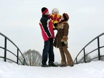Família com bebê Imagens de Stock Royalty Free