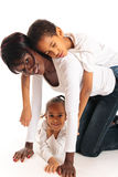 família da Misturado-raça Foto de Stock