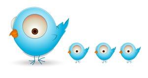 Família de pássaro bonito dos desenhos animados Fotografia de Stock Royalty Free