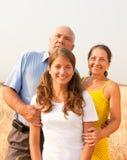 Família de três Fotografia de Stock