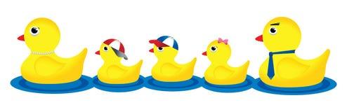 Família do pato Fotografia de Stock Royalty Free