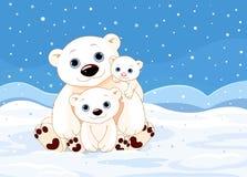 Família do urso polar Fotos de Stock Royalty Free