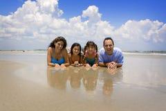 Família em férias Imagem de Stock Royalty Free