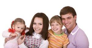Família feliz com a criança dois. Fotos de Stock Royalty Free