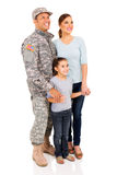Família militar americana Fotografia de Stock Royalty Free