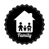 Famly home design Royalty Free Stock Photos