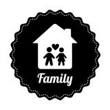 Famly home design Royalty Free Stock Image