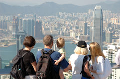 Famly Hong-Kong de visita turístico de excursión Fotografía de archivo
