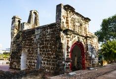 一个Famosa堡垒在马六甲 库存照片