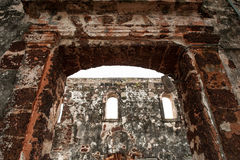 A Famosa Fort Ruins on St Paul Hill. In Melaka (Malacca), Malaysia Royalty Free Stock Photography