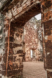A Famosa Fort Ruins on St Paul Hill. In Melaka (Malacca), Malaysia Royalty Free Stock Photo