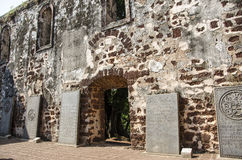 A Famosa Fort Ruins on St Paul Hill Royalty Free Stock Image