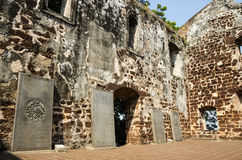 A Famosa Fort Ruins on St Paul Hill Stock Photography