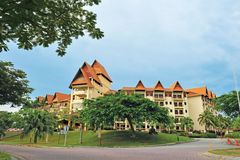 A FAMOSA RESORT. A`Famosa Resort. The name conjures up images of a bygone era, when the bustling port city of Malacca was not only the commercial hub of Asia but stock photos