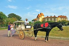 A FAMOSA RESORT. A`Famosa Resort. The name conjures up images of a bygone era, when the bustling port city of Malacca was not only the commercial hub of Asia but royalty free stock photos