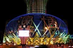Famoso grande do diodo emissor de luz do casino de Lisboa, Macau, China Imagem de Stock