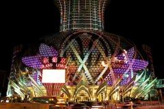 Famoso grande do diodo emissor de luz do casino de Lisboa, Macau, China Imagem de Stock Royalty Free