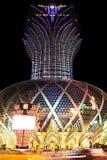 Famoso grande do diodo emissor de luz do casino de Lisboa, Macau, China Imagens de Stock