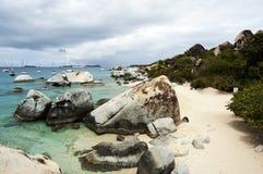 Famoso i bagni su Virgin Gorda, Isole Vergini Britanniche Immagini Stock Libere da Diritti