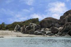 Famoso i bagni su Virgin Gorda, Isole Vergini Britanniche Fotografie Stock Libere da Diritti