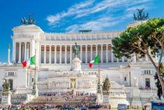 ` Famoso IL Vittoriano di Patria di della di Altare del ` a Roma, Fotografie Stock Libere da Diritti