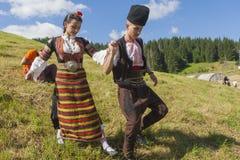 Famoso rozhen el festival del folclore en Bulgaria foto de archivo