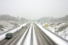 The famous A9 near Amsterdam Netherlands Stock Photography