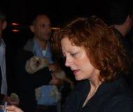 Famous actress Susan Sarandon signing autographs Stock Photos
