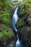Famous Aira Force waterfall  in Lake District Royalty Free Stock Photos