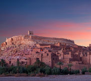 Famous Ait Benhaddou Casbah near Ouarzazate city in Morocco Royalty Free Stock Photography