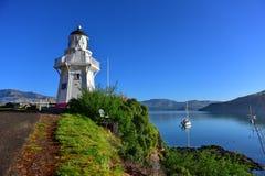 Famous Akaroa Lighthouse in Banks Peninsula Stock Image
