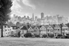 Famous Alamo Square in San Francisco, California stock image