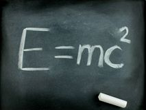Famous Albert Einstein's equation E=mc2 Stock Photography