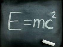 Famous Albert Einstein's equation E=mc2 stock photography
