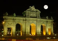 The famous Alcala Arch Royalty Free Stock Photography