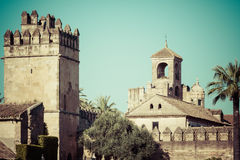 The famous Alcazar with beautiful garden in Cordoba, Spain Stock Images