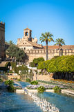 The famous Alcazar with beautiful garden in Cordoba, Spain Royalty Free Stock Photography