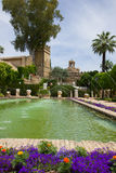 The famous Alcazar gardens  in Cordoba, Spain. The famous Alcazar with beautiful gardens in Cordoba, Spain Royalty Free Stock Photo